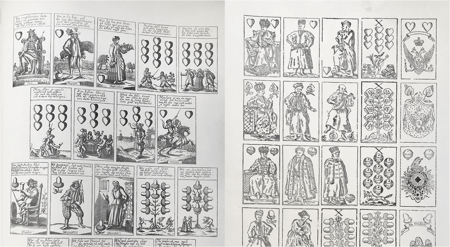 German and Russian playing card suits